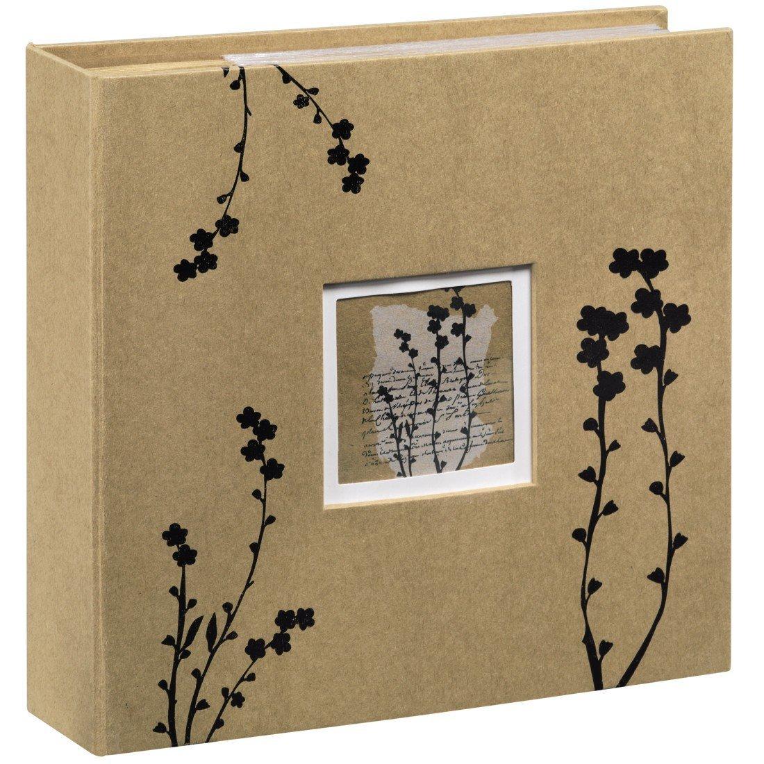 Fotoalbum in braun mit schwarzen Blumen