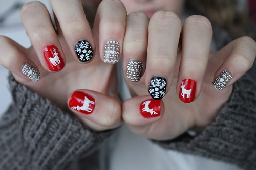 winterliche nageldesigns