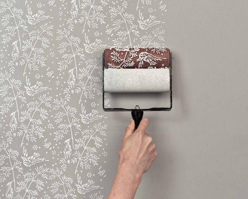 wandgestaltung mit strukturwalzen diy pretty little page. Black Bedroom Furniture Sets. Home Design Ideas