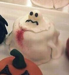 halloween muffin gespenst
