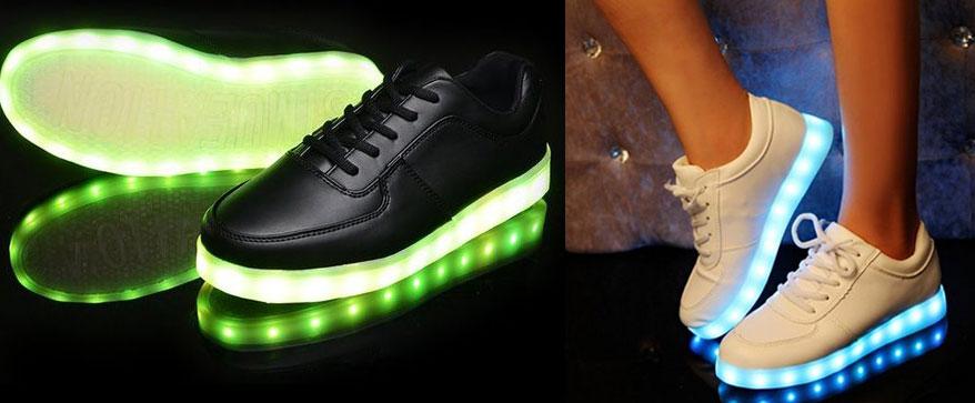 Sneaker Leuchtende Sohle