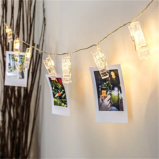 Diy fotoklammer lichterkette pretty little page - Lichterkette am baum anbringen ...