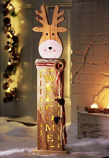 weihnachtsdeko f r zuhause elch led dekofigur pretty